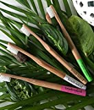 Naked Bambus Zahnbürste, für Erwachsene weiche Bürste 4er Pack