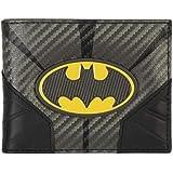 محفظة ثنائية الطي بشعار باتمان المعدني من دي سي كوميكس