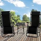 Best Zero Gravity Chairs - Marko Outdoor Zero Gravity Textoline Sun Lounger Set Review