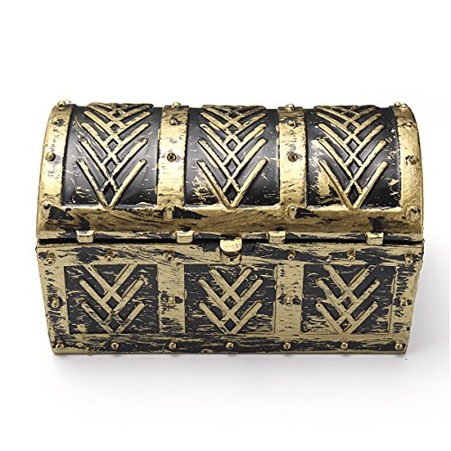 Tasche Münze Piraten (GOZAR Vintage Piraten Jewelry Storage Box Regale Tasche Halskette)