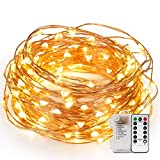 Kohree 120 Micro LEDs String Lights Battery Powered 40ft Long Ultra Thin String Copper Wire Lights with Remote Control and Timer Perfect for Weddings,Party,Bedroom,Xmas-2C Batteries powered