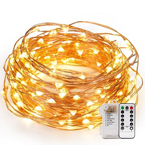 kohree- ghirlanda luminosa LED Cablato rame 12m