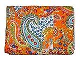 Traditionelle Paisley Kantha Quilt Decor Old Vintage Kantha Steppdecke, indische Baumwolle Tagesdecke, Stoff Wende Gudri, Home Decor Kantha Gudri, Twin Size Quilt Bett Spread