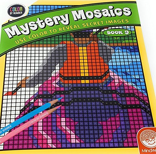 Mystery Mosaics By-the-Numbers Coloring Book Number 9