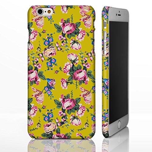 Étui avec motifs à fleurs de style vintage pour iPhone Designs par iCaseDesigner sur mesure pour la gamme iPhone., plastique, 10. Pink Roses on White Background, iPhone 5/5S 2. Pink & Blue Flowers on Mustard Yellow