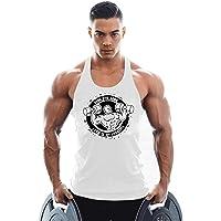 KODOO Bodybuilding Canottiera da Palestra Uomo Canotta Sportive Tank Top di Cotone Elastico