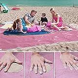 Sand frei Strand Matte Teppich Picknick Decke, Schnell Trocken leicht zu reinigen ideal für den Strand Picknick Camping Outdoor Veranstaltungen Teppich Beach Decke Matte,Rosa M(200cm*200cm)