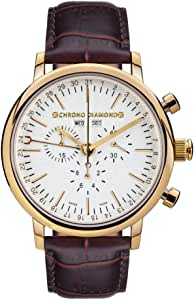 11200G Chrono Diamond Argos oro IP marrone: Amazon.it: Orologi