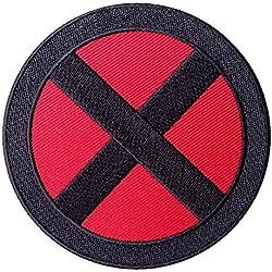 "X-Men Parche de logotipo ""x"" de Tormenta, rojo y negro, 8,9 cm"