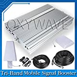 OXYWAVE® Mobile Signal Booster High Gain Tri Band 2G/3G/4G with 35 Meter Cable Low Power consumption Support Multiple User Works at (900MHz-1800MHz-2100MHz-2700MHz) Frequency Coverage Area 3000 Sq-ft Plug & Play Device