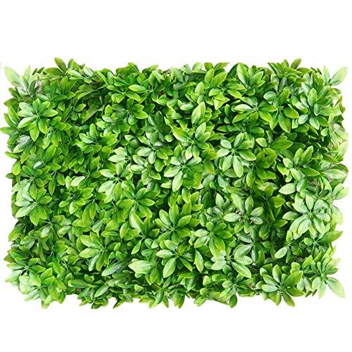YEYE Künstliche Buchsbaum Hecken Panels,Faux Gras Sträucher Topiary Matte Greenery Wandkulisse Outdoor Indoor Garden Privacy Screen Zaun-m 60x40cm(24x16inch) (Screen Pet-privacy)
