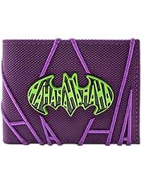 b75f78402311 Batman The Joker Stitched HA HA Purple ID   Card Bi-Fold Wallet
