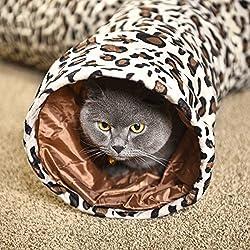 3 Vías Gato Túnels,Juguetes para Gato