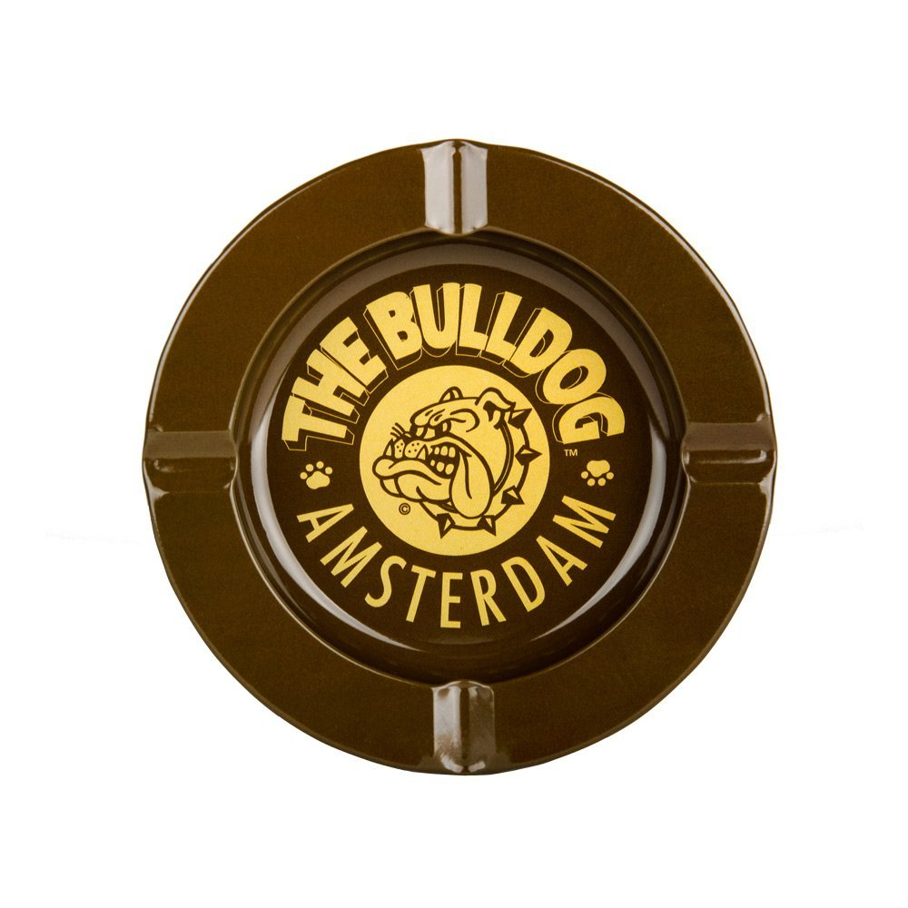 POSACENERE IN METALLO THE BULLDOG AMSTERDAM TIN ASHTRAY MARRONE 4 TAGLI