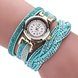 TianWlio Armbanduhren Damen Mode Luxus Kristall Frauen Gold Armband Quarz Armbanduhr Strass Uhren