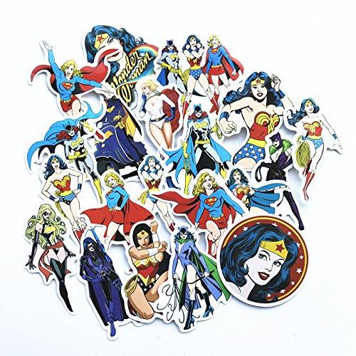 20 STK/viel Wonder Womans Supergirl Cat Woman Für Auto Laptop Pad Sapp EIN Gerät Motorrad Aufkleber Spielzeug Aufkleber