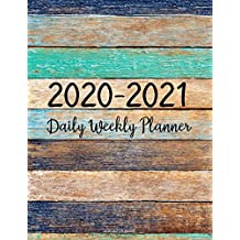 2020-2021 Planner: Jan 2020 - Dec 2021 2 Year Daily Weekly Monthly Calendar Planner W/ To Do List Academic Schedule Agenda Logbook Or Student & ... Color Wood (2020 Planner Weekly and Monthly)
