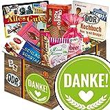 Danke ♥ DDR Geschenke ♥ DDR Suessigkeiten-Box mit Puffreis-Schokolade, Liebesperlenfläschchen, Othello Keks Wikana uvm. ♥