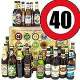 Geschenkideen für Männer zum 40. | 24 Biere | mit Bieren der Welt und D