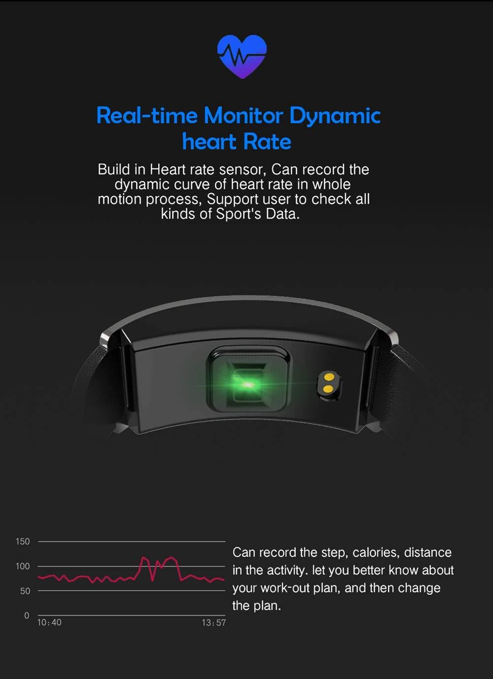SPORS Fitness Tracker cinturón Impermeable Ritmo cardíaco presión Arterial sueño Monitor podómetro Reloj Inteligente… 5
