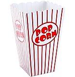 Bekith 48 Stück Popcorn Tüte,Papiertüten Partytüte Rot-Weiß Gestreift Größe:16 x 10 x 7cm