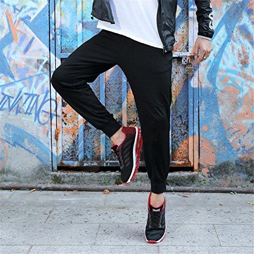 Mimiyaya Unisex Uomo Donna Scarpe Sportive Scarpe Da Corsa Comode Air Running Laces Scarpe Da Corsa 35-44 Nero Rosso