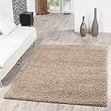 T&T Design Shaggy - Alfombra para salón, diferentes precios, varios colores, beige, 140 x 200 cm