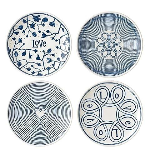 Set of 4 Plates - Designer Ellen DeGeneres - Royal