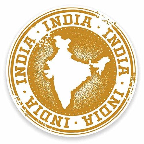 Preisvergleich Produktbild 2x Indien Vinyl Aufkleber Aufkleber Laptop Auto Reise Gepäck Label Tag # 9465 - 10cm/100mm Wide