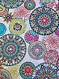 Ibiza Sommer Blumen Mandala Designer Baumwolle Stoff