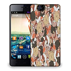 Snoogg Mixed Flower Pattern Designer Protective Phone Back Case Cover For Micromax Canvas Knight A350