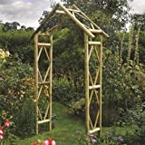 Rustic Arch - Pressure Treated  Natural Timber Finish (Garden & Outdoors)