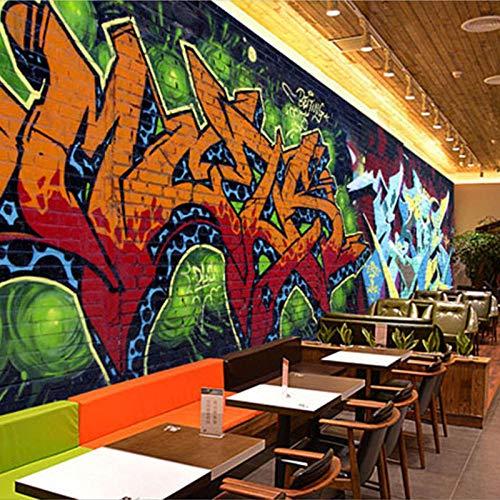 Kunst wallpaper_street Persönlichkeit Internet Cafe Tapete Fitness Tanzraum Wandbild Bar Hintergrund wallWallpaper 3D Wandbild Paste Grenze Wandbild Tapete Fototapete Wandbilder-300cm×210cm