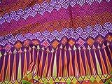 Tela de algodón puro para vestido con patrón de mandala serigrafiada de tela de algodón suave