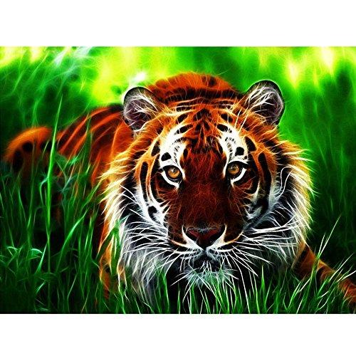 KSG Mammut 8041217 weier Tiger Sequin Art ca 36,5 x 27,2 cm