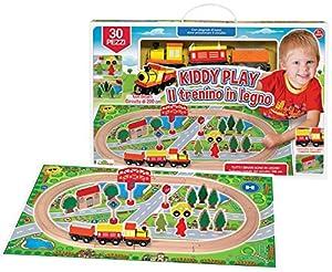 MARCA KIDDY Play Circuito Tren de Madera Playset, 78791