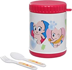 Farlin 500cc Yammy Warmer Can Large - Pink (Baby Food Storage Container)