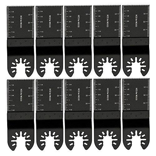 Juego de cuchillas de corte de madera para sierra oscilante, multiherramienta para Dremel FEIN Multimaster Makita Bosch Mix (10 unidades)