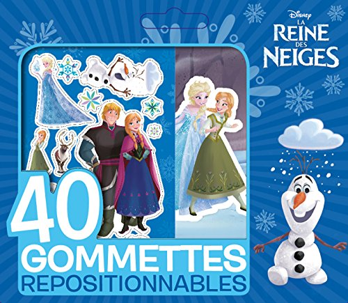 La Reine des Neiges : 40 gommettes repositionnables par From Hachette Jeunesse