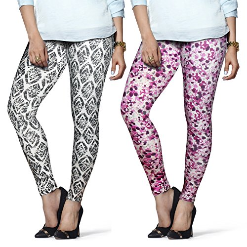 686f6316921f7a Lux lyra 8904209825193 Printed Ankle Length Leggings Pack Of 2- Price in  India