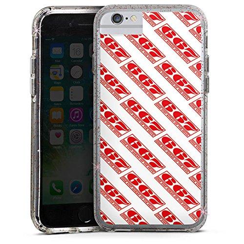 Apple iPhone 8 Bumper Hülle Bumper Case Glitzer Hülle Red Rot Pattern Bumper Case Glitzer rose gold