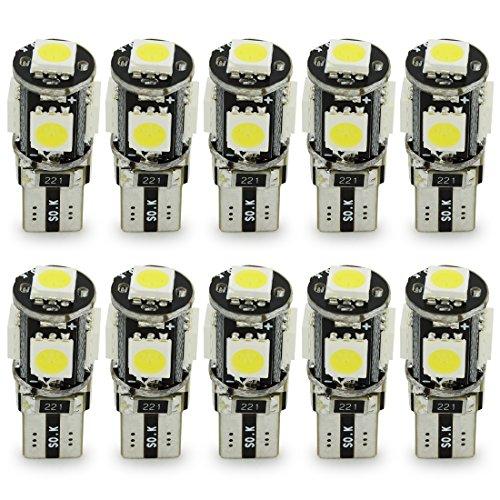 10x-T10-W5W-LED-no-hay-errores-Bombillas-exteriores-5-SMD-5050-Luz-Coche-trasera-Lmpara-Blanco-Xenon-Luz-de-interior-T10-Wedge-Lampara-para-Coches-luces-de-la-matrcula-luces-laterales-12V