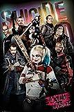 Close Up Suicide Squad Poster Harley Quinn & Team (61cm x 91,5cm) + Geschenkverpackung. Verschenkfertig!