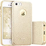 ESR iPhone 5S/SE/5s Cover con Brillantini/Glitters, Custodia Brillante Lucciante Luminosa [Elastica e Morbida] per Apple iPhone 5/5S/SE (Champagne)