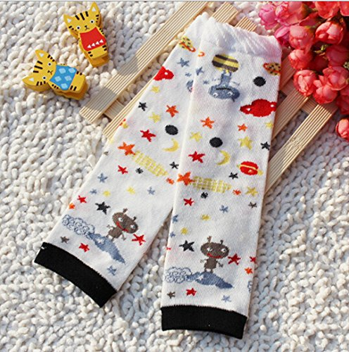 Luckystaryuan ® Set von 6 Cotton Baby-Karikatur-Bein-Wärmer Jungen Mädchen Beinschützer (girl style 1) -