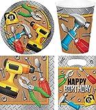 40-teiliges Party Set Heimwerker Handwerker Kindergeburtstag Geburtstag Party Fete Feier 8 Teller, 8 Becher, 16 Servietten, 8 Partytüten