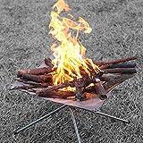 Aesy Stufa Inceneritore Griglie per Barbecue da Camino Pieghevole Portatile per Campeggio Picnic, Foldable Grill Stove For Camping BBQ Backpacking Strumento di Sopravvivenza