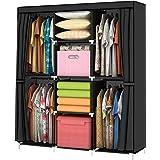 YOUUD Armoire Vêtements Rangement Organisateur Penderie de vêtement 127 x 45 x 170 cm