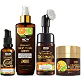 WOW Skin Science Ultimate Vitamin C Skin Care Kit - consists Vitamin C Face Wash brush, Mist Toner, Face Serum, Face Cream -