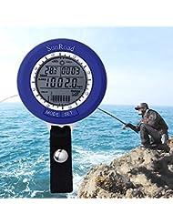 Sunroad SR204pesca barómetro–Pistas 6lugares, presión de aire, temperatura, agua profundidad